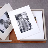 Clamshell box for professional photography prints