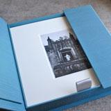 Hand crafted engagement photo box